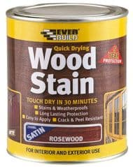 EVERBUILD WSTAINSRW02  Wood Stain Rosewood 250Ml